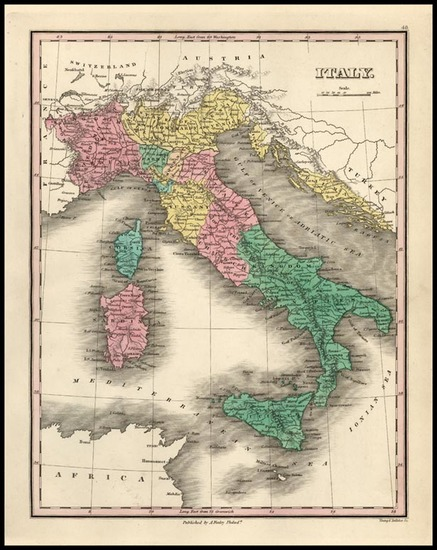 35-Europe, Italy and Balearic Islands Map By Anthony Finley