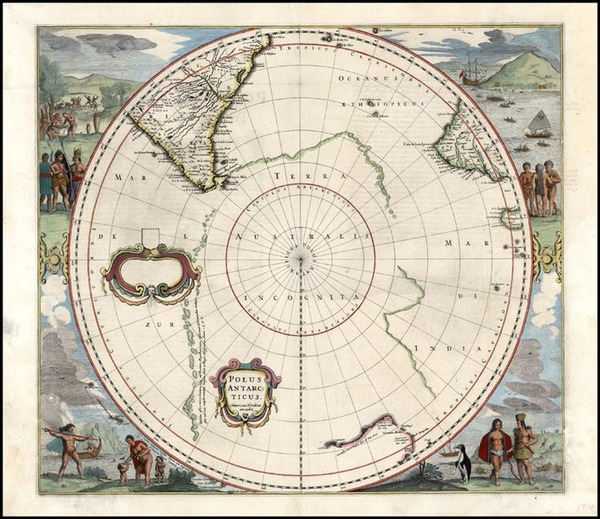 85-World, Polar Maps, Australia & Oceania, Pacific, Australia and New Zealand Map By Henricus