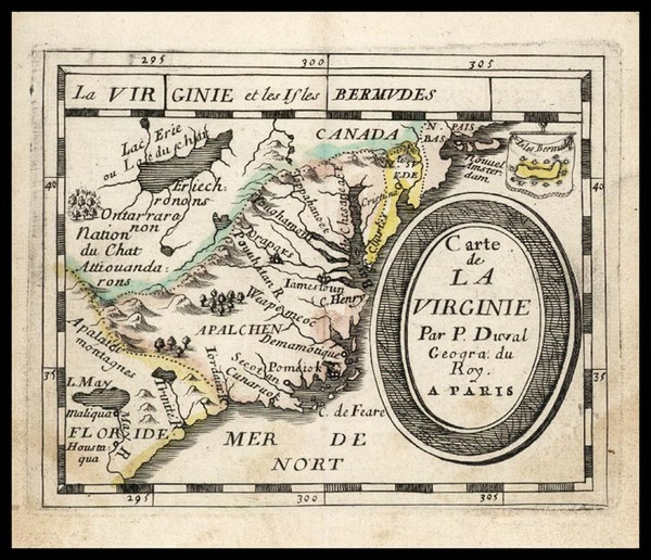 99-Mid-Atlantic and Southeast Map By Pierre Du Val