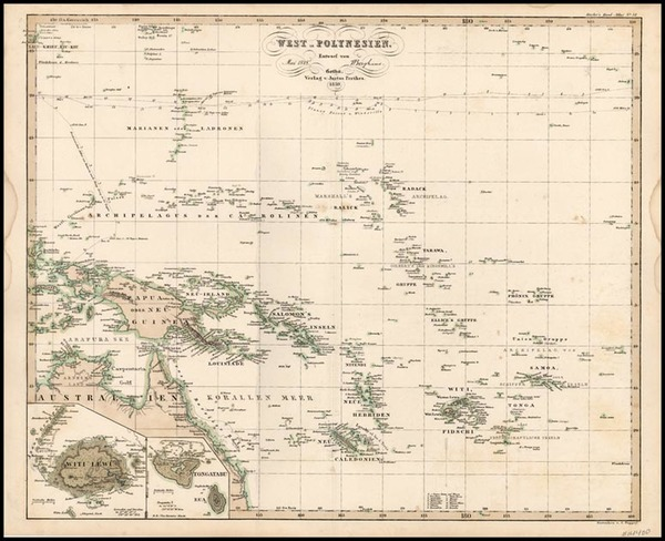 39-World, Australia & Oceania, Pacific, Oceania and Other Pacific Islands Map By Adolf Stieler
