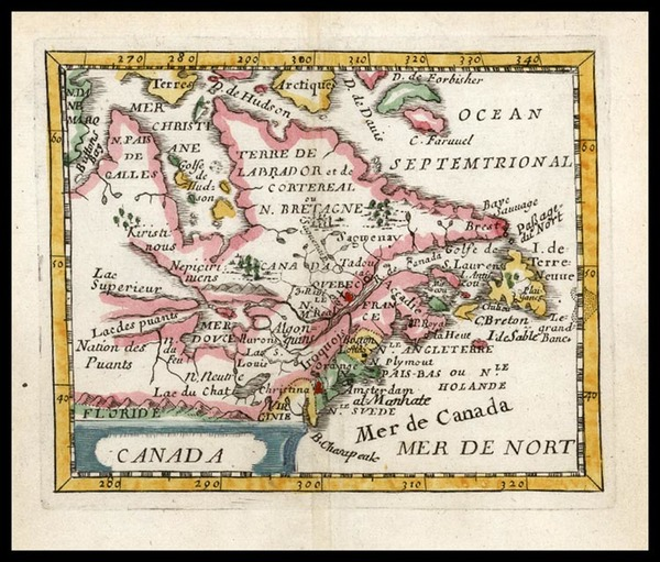 18-New England, Midwest and Canada Map By Pierre Du Val