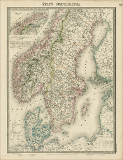 9-Scandinavia and Sweden Map By J. Andriveau-Goujon