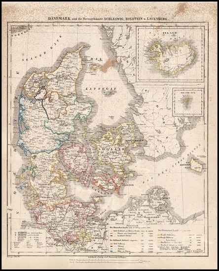 61-Europe, Scandinavia and Iceland Map By Carl Flemming