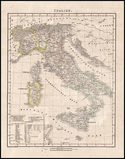 70-Europe and Italy Map By Carl Flemming
