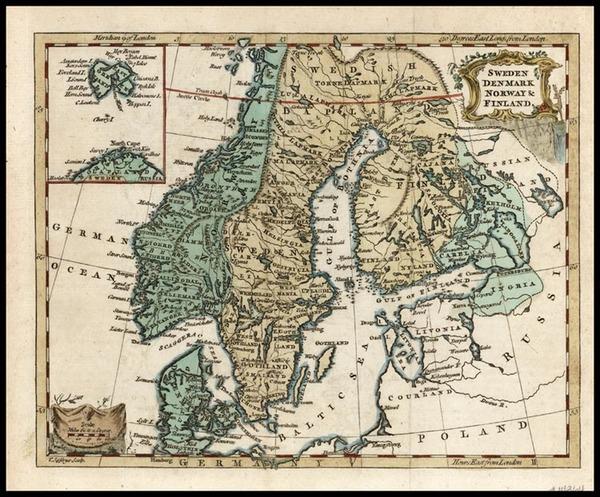51-Europe and Scandinavia Map By Thomas Jefferys