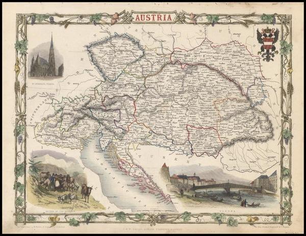 24-Europe and Austria Map By John Tallis