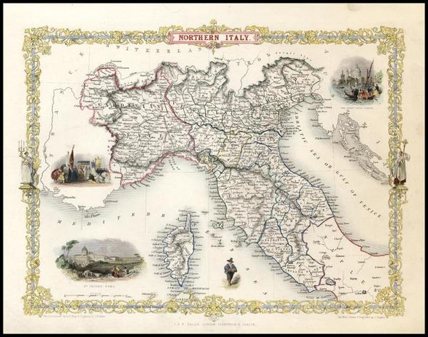 14-Europe, Italy, Mediterranean and Balearic Islands Map By John Tallis