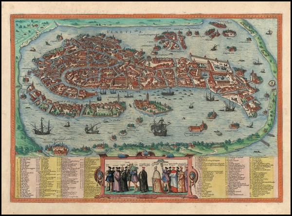 10-Europe and Italy Map By Georg Braun  &  Frans Hogenberg