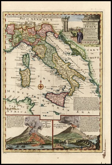 62-Europe, Italy and Balearic Islands Map By Emanuel Bowen