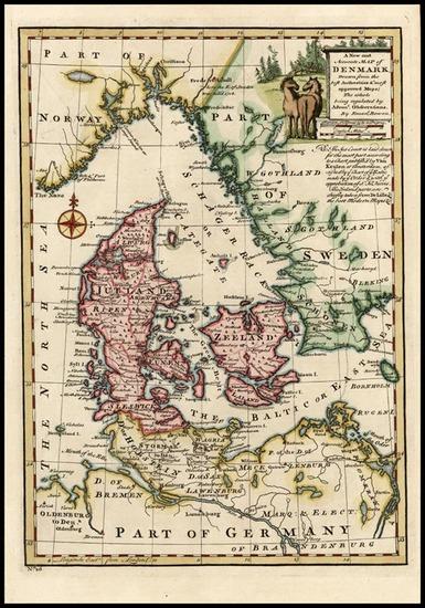 3-Europe and Scandinavia Map By Emanuel Bowen