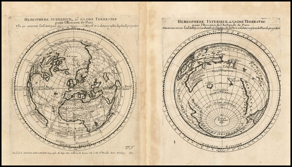 22-World, World, Northern Hemisphere, Southern Hemisphere and Polar Maps Map By Pierre Moullart Sa