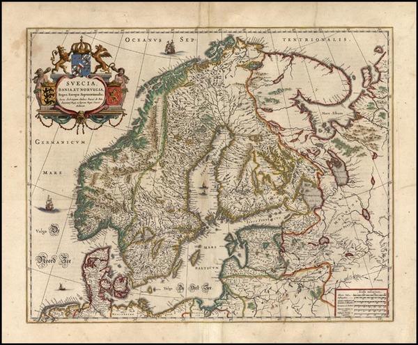 46-Europe and Scandinavia Map By Henricus Hondius