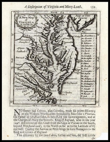 74-Mid-Atlantic and Southeast Map By Robert Morden