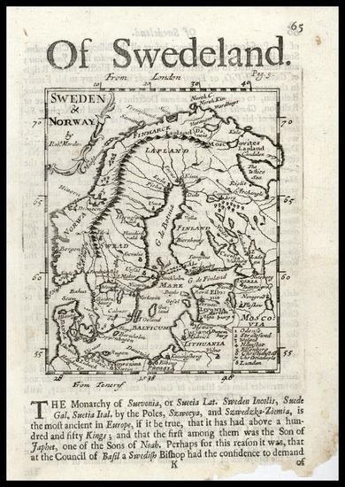 57-Europe and Scandinavia Map By Robert Morden
