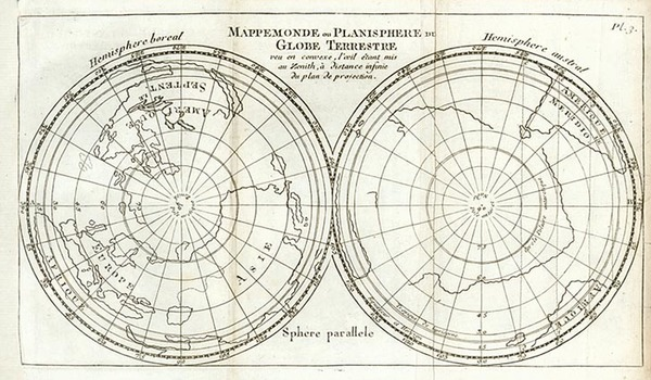52-World, World, Northern Hemisphere, Southern Hemisphere and Polar Maps Map By Sanson fils