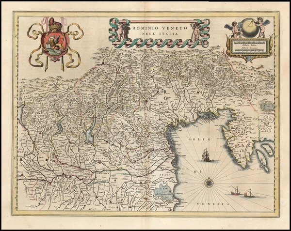 30-Europe, Balkans and Italy Map By Willem Janszoon Blaeu