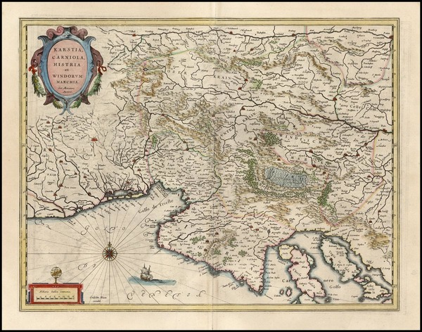 82-Europe, Balkans and Italy Map By Willem Janszoon Blaeu