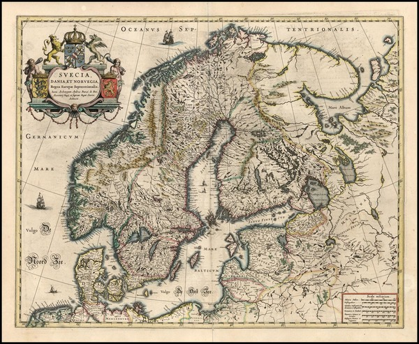 51-Europe and Scandinavia Map By Willem Janszoon Blaeu