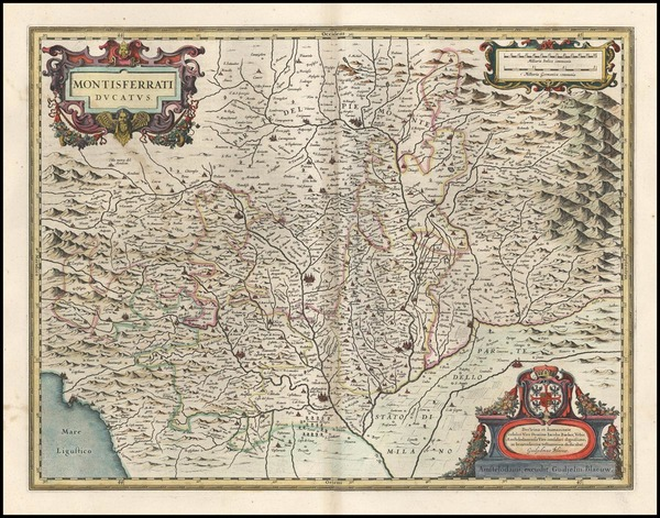 89-Europe and Italy Map By Willem Janszoon Blaeu