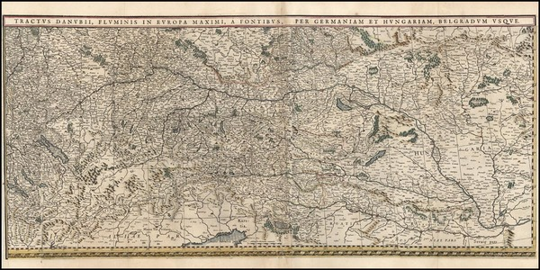 34-Germany, Austria, Hungary and Balkans Map By Willem Janszoon Blaeu
