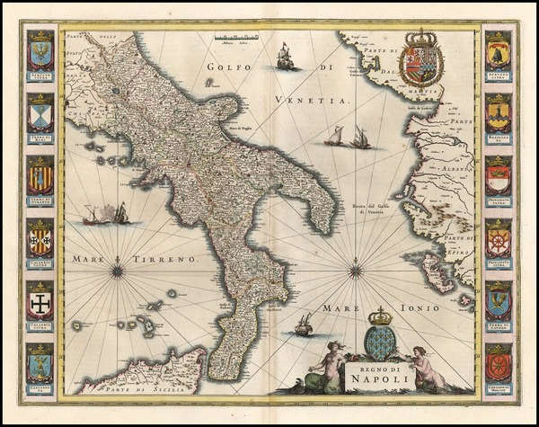 29-Europe and Italy Map By Willem Janszoon Blaeu