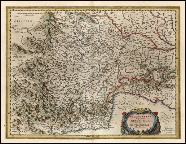 36-Europe and Italy Map By Willem Janszoon Blaeu