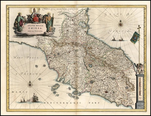 78-Europe and Italy Map By Willem Janszoon Blaeu