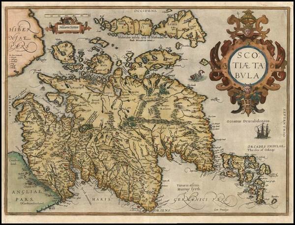 90-Scotland Map By Abraham Ortelius