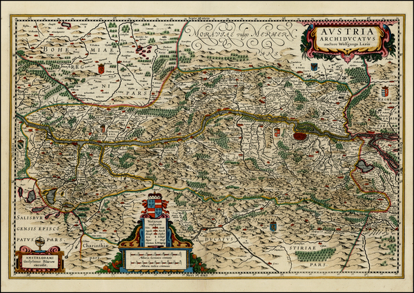 5-Austria and Czech Republic & Slovakia Map By Willem Janszoon Blaeu