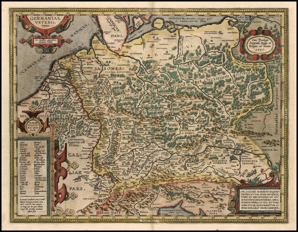 18-Europe, Europe, Netherlands, Germany and Poland Map By Abraham Ortelius