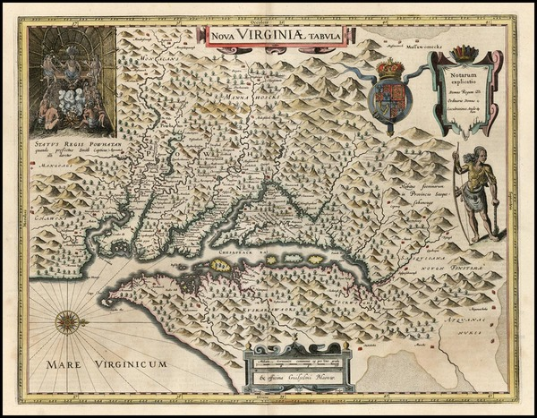 82-Mid-Atlantic and Southeast Map By Willem Janszoon Blaeu