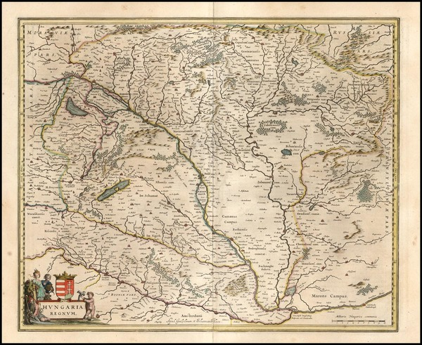 23-Europe, Austria and Hungary Map By Willem Janszoon Blaeu