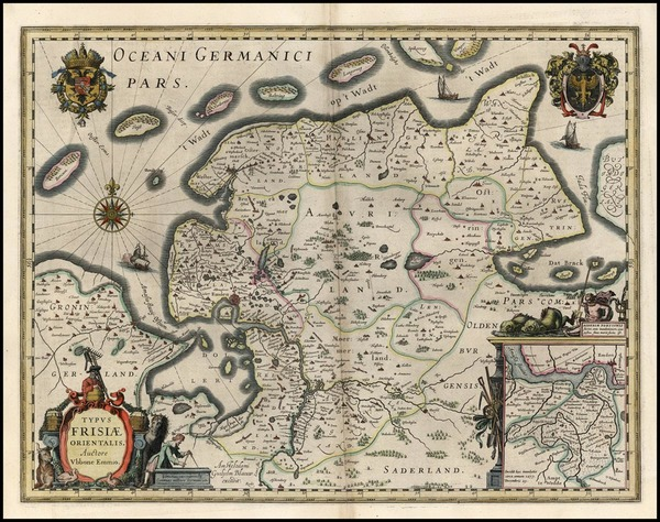 55-Europe and Germany Map By Willem Janszoon Blaeu