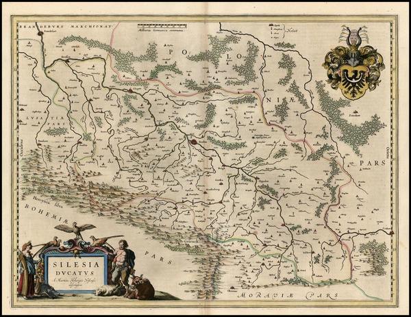 49-Europe, Germany, Poland and Czech Republic & Slovakia Map By Willem Janszoon Blaeu
