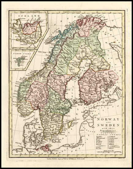8-Europe, Scandinavia and Iceland Map By Robert Wilkinson