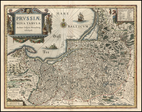 14-Europe, Germany, Poland and Baltic Countries Map By Willem Janszoon Blaeu