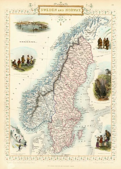 5-Europe and Scandinavia Map By John Tallis