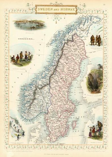 37-Europe and Scandinavia Map By John Tallis