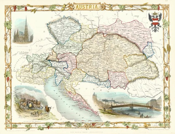 53-Europe and Austria Map By John Tallis