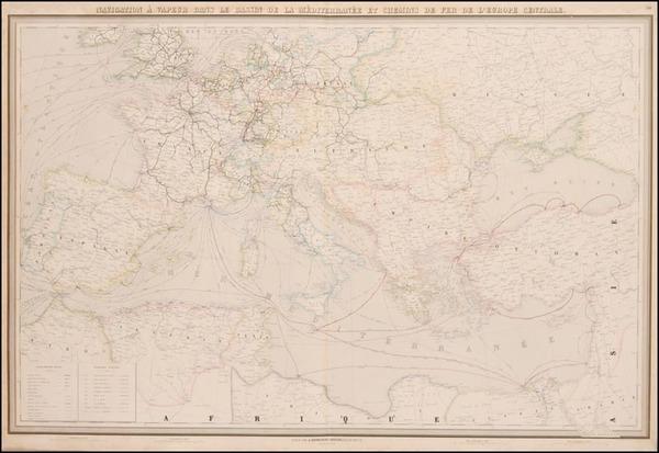 98-Europe, Europe, Austria, Greece and Mediterranean Map By J. Andriveau-Goujon