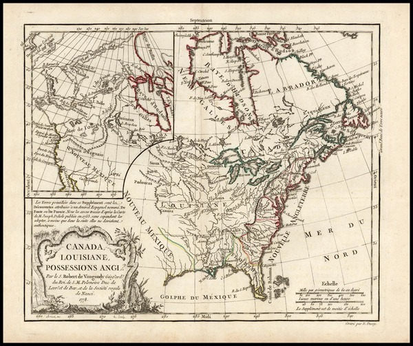 24-United States, Alaska and Canada Map By Charles Francois Delamarche