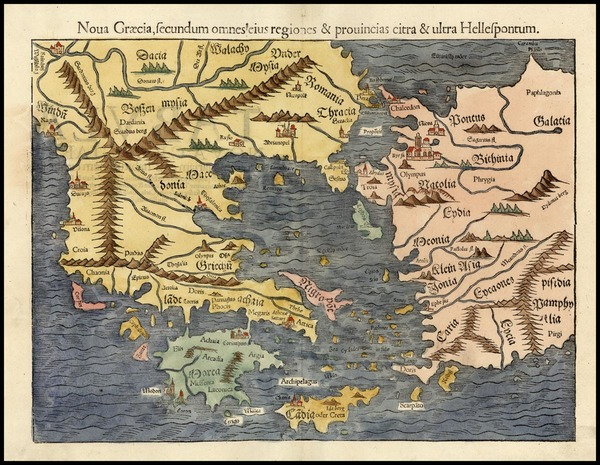 39-Europe, Greece, Turkey, Balearic Islands, Asia and Turkey & Asia Minor Map By Sebastian Mun