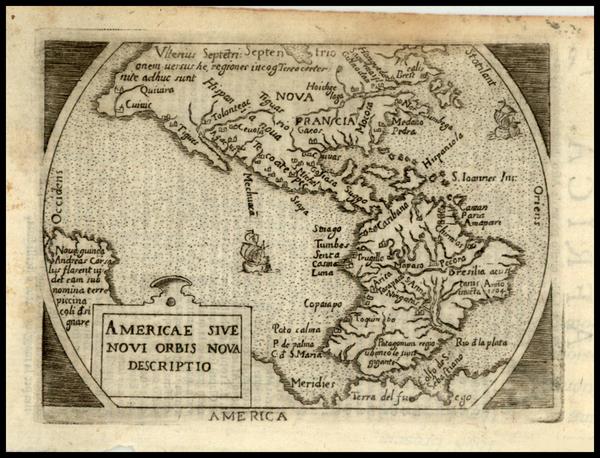 78-World, Western Hemisphere, South America and America Map By Abraham Ortelius / Pietro Marchetti