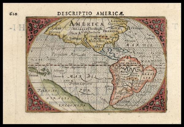 94-World, Western Hemisphere, North America, South America and America Map By Cornelis Claesz