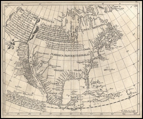 78-North America and California Map By Henry Briggs