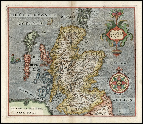 74-Scotland Map By William Hole
