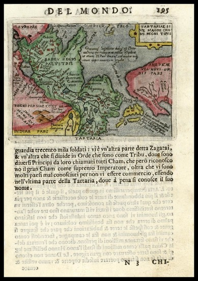 43-Asia, China, Japan and California Map By Abraham Ortelius / Pietro Marchetti