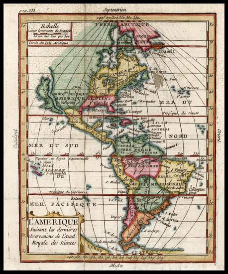 51-South America and America Map By Claude Buffier