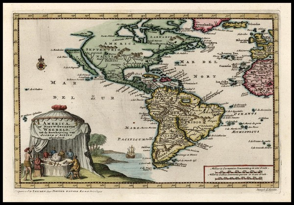 15-South America and America Map By Pieter van der Aa