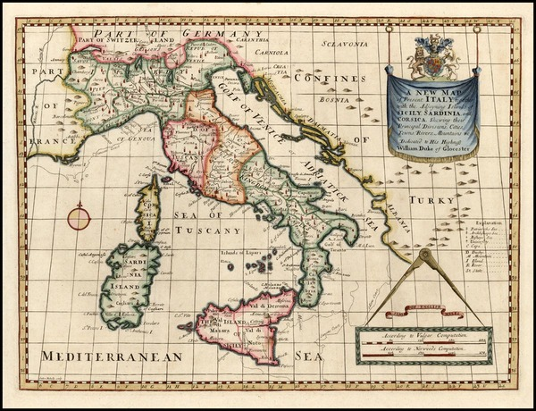 13-Europe and Italy Map By Edward Wells